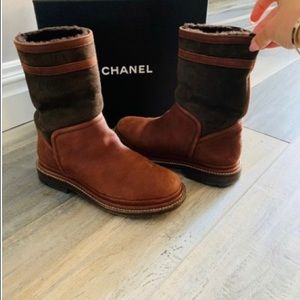 Chanel Brown Ankle Boots/Booties